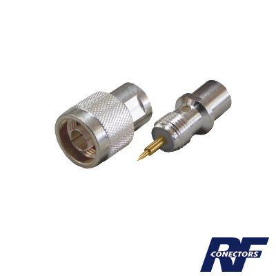 Conector N macho para cable BELDEN 9913, 7810A, 8214; ANDREW CNT-400; Syscom RG8/U-SYS, RFLASH-1113