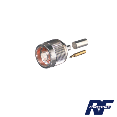 Conector N Macho de anillo plegable para cable RG-174/U, BELDEN 8216.