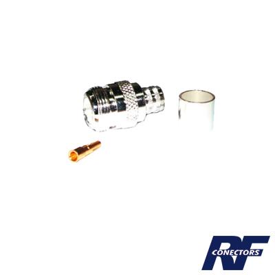 Conector N hembra para 9913, 7810A, 8214, CNT-400, RG8/U-SYS, RFLASH-1113.