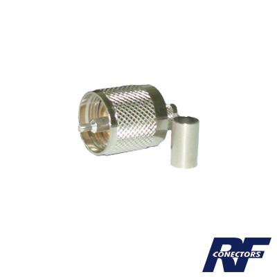 Conector UHF macho (PL-259) de anillo plegable para cable RG-8/X, BELDEN 9258
