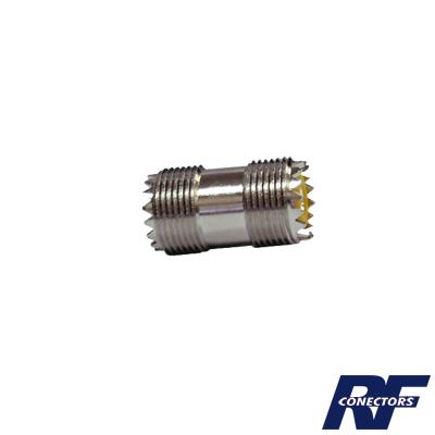 Adaptador barril, de conector UHF hembra (SO-239) a UHF hembra (SO-239)