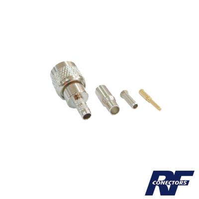 Conector Mini UHF Macho de anillo plegable para cable RG-174-U, BELDEN 8216.