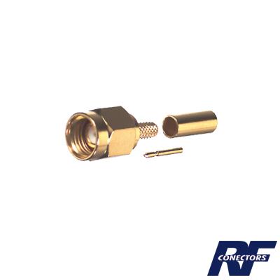 Conector SMA Macho Inverso de Anillo Plegable para Instalar en Cables RG-174/U y RG-316/U.