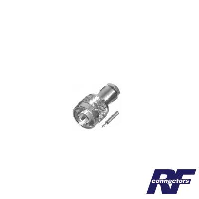 Conector N Macho de Rosca para RG-58/U, RG-142/U, Plata/ Oro/ Teflón.