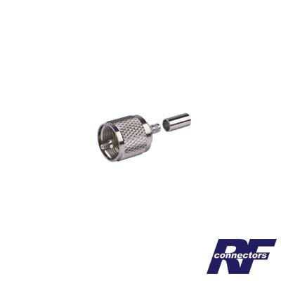 Conector UHF Macho (PL-259) de Anillo Plegable para Ensamblar en Cables RG-58/U, RG-142/U.