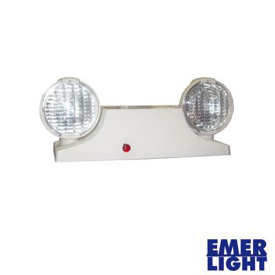 Luz de Emergencia Compacta Tipo Industrial (Blanca).