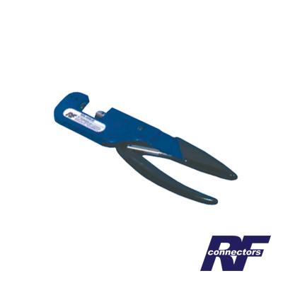 Pinzas professionales, para plegar conectores de anillo en cable coaxial.