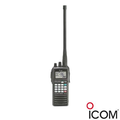 Radio Portátil Aéreo, rango de frecuencia 118-136.975MHz, 5W PEP, funciones de navegación VOR incluido, 200 canales alfanuméricos, pantalla y botones de gran tamaño