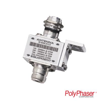 Protector RF Coaxial Para 125 - 1000 MHz de Ceja Frontal y Conectores N Hembra en Ambos Lados