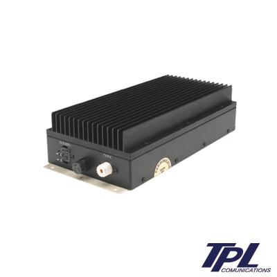 Amplificador para radios móviles, 400-512 MHz, (En sub-bandas de 20 MHz), potencia de entrada - salida de 1-4 W - 75-100 W.