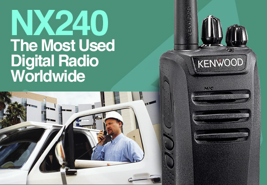 NX240 The most used worldwide digital radio