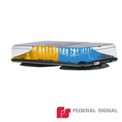 Barra de Luces HIGHLIGHTER LED SOLARIS con Montaje de Succión e Imán (dos colores, domo claro)(Ámbar-Azul)