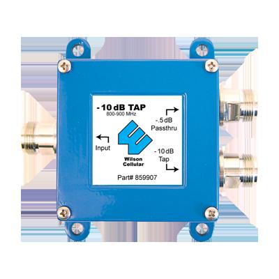 Separador para 800 - 1900 MHz, con 10 y 0.5 dB de atenuación.