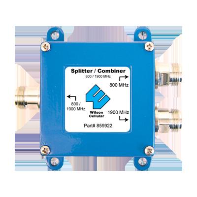 Diplexer-Combinador Doble Banda 700-960 MHz - 1710-2155 MHz, con 0.5 dB de pérdida.