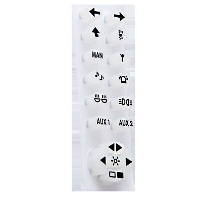 Botonera de silicón para control 821- 6013-MX
