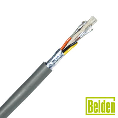 Cable multiconductor, 8 hilos AWG24 (7x32) totalmente blindado. Ideal para estaciones remotas, audio, instrumentación y cables para computadoras EIA-RS-232