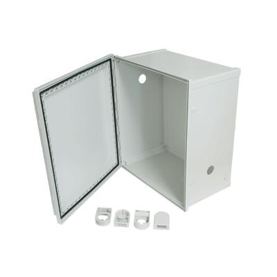 Gabinete NEMA 4X con Ventilas, 406.4 (W) x 457.2 (H) x 254 (D) mm. Ideal para DVR con Fuente de Poder y Baterías de Respaldo.