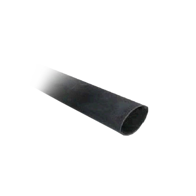 "Tubo Termoretráctil negro (Thermofit) de 1 1-2"" de diámetro. Relación de encogimiento 3 a 1. Uso rudo, adhesivo interno."