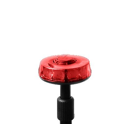 Luz telescópica trasera roja con mástil de 3 secciones, 15 LEDs en tecnología SOLARIS