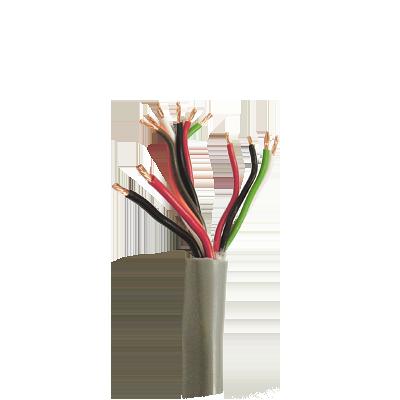 Bobina de cable de 500 metros de color gris para Sistemas de Control de Acceso. ( 5 pares calibre 22) ( 1 par calibre 18 )