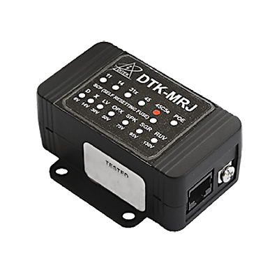 Protector modular para circuito IP video, transmisión Gigabit Ethernet, conexión RJ45 entrada - salida
