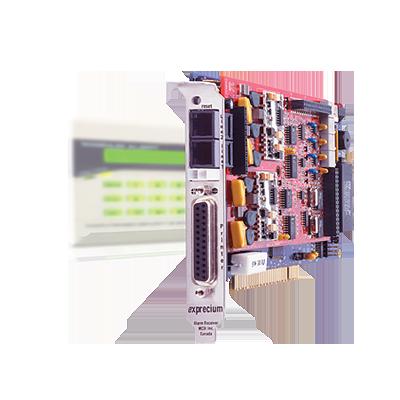 Central receptora tipo PCI o PCI-E para instalación en computadora de dos líneas
