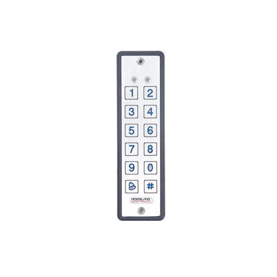 Lector ultra delgado de proximidad con teclado, capacidad de lectura de tarjetas ROSSLARE y HID, 125 Khz