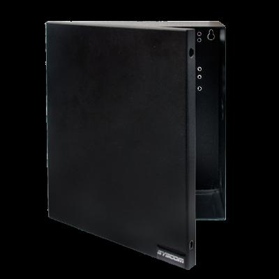 Gabinete para Fuente Línea PRO y SYSRMTXT, con preparación para instalar panel SP400 o serie runner.