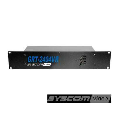 """Fuente de poder para CCTV con montaje en rack 19"""" 24 Vca 4 A de 8 salidas"""