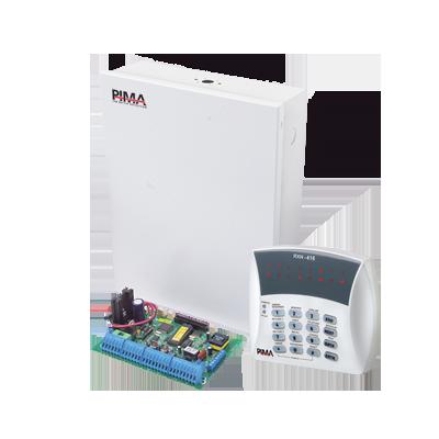 Panel de alarma Hibrido de 8 a 144 zonas soporta receptor inalámbrico y módulos de expansión cableados y cuádruple comunicador ala central línea telefónica, C