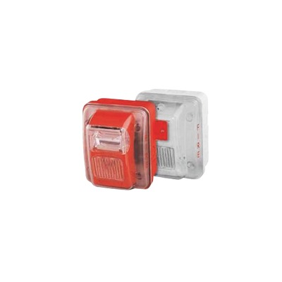 Cubierta para instalar sirenas estrobo en exterior compatible con estrobos sirenas Hochiki color Blanco