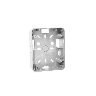 Caja de montaje para estrobo sirena color blanco