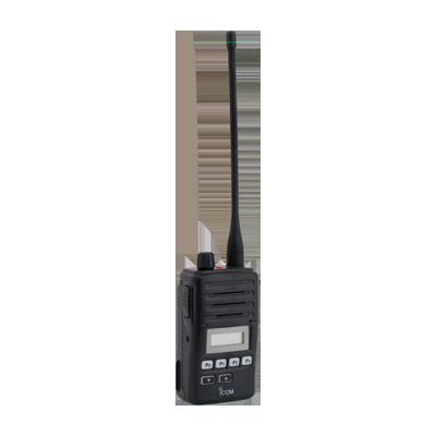 Radio portátil profesional, 4 W, 400-470 MHz, 128 canales, incluye amplificador BTL y señalización MDC1200