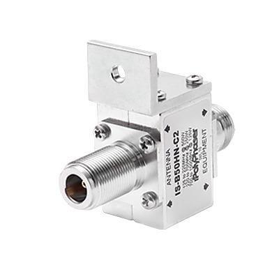 Protector RF Coaxial Para 125 a 1000 MHz Con Ceja Frontal Con Conectores N Hembra en Ambos Lados