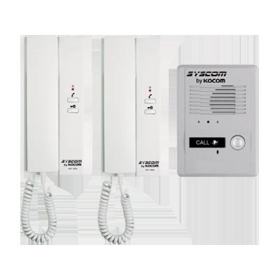 Kit de Audio Portero con 2 Auriculares y dos Frentes de Calle Opcionales