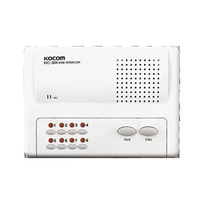 Sistema de intercomunicador manos libres para 8 extensiónes