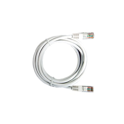 Cable de parcheo UTP Cat5e - 1 m - blanco