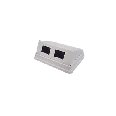 Caja de pared angulada incluye 2 jacks UTP cat5e Keystone