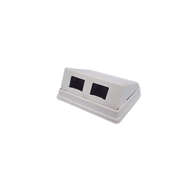Caja de pared con Jacks UTP Cat5e angulado