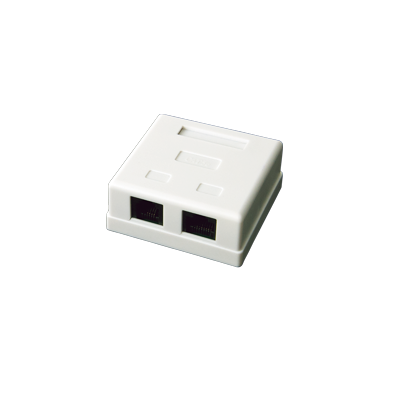 Caja de pared de 2 puertos con Jack UTP Cat5e