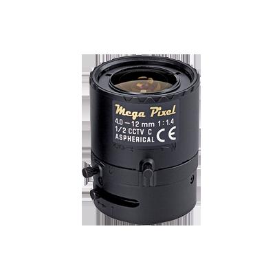 "Lente 3MP varifocal 4-12mm, iris manual, asferica, 1-2"""