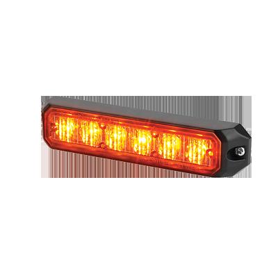 Luz auxiliar de 6 LEDs, 12 Vcd, 1 A, color ámbar