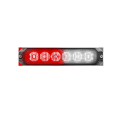 Luz auxiliar de 6 LEDs, 12 Vcd, 1 A, color rojo-claro