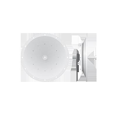 PowerBridge M10 AirMax con antena parabólica de 34 dBi, modulación propietaria (10.32 - 10.57 GHz).