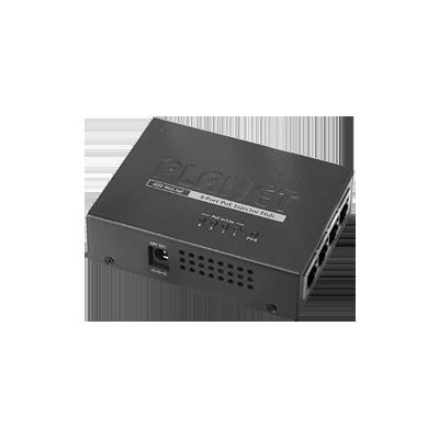 Inyector PoE 802.3af de 4 puertos 10-100 Mbps