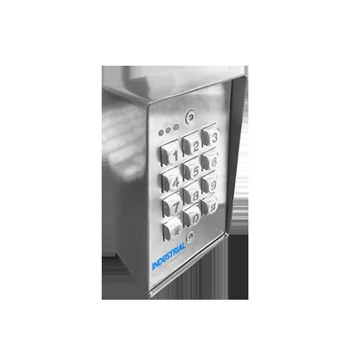 Teclado exterior-interior antivandálico, 3 relevadores, salida wiegand, 1200 usuarios