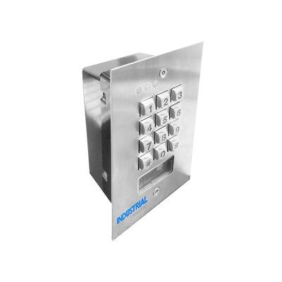 Teclado exterior/interior antivandálico, 3 relevadores, salida Wiegand, 1200 usuarios, lector de proximidad, para pared