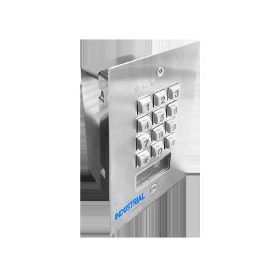 Teclado exterior-interior antivandálico, 3 relevadores, salida Wiegand, 1200 usuarios, lector de proximidad, para pared