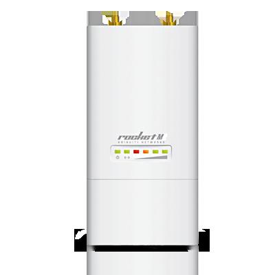 Rocket M2 AirMax de Alta Capacidad y Alcance, 802.11 b-g-n (2.4 GHz), conectorizado.