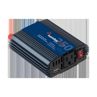 Inversor de corriente (CD-CA) potencia nominal 250 W, Ent:12Vcd, Sal: 115Vca
